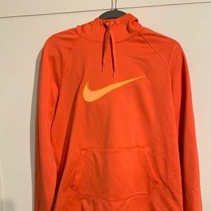 Coral Nike Dri Fit Hooded Sweatshirt